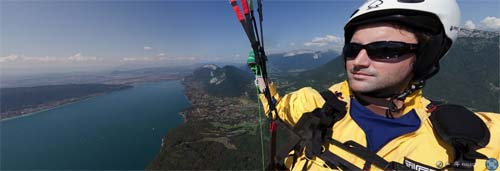 360° Panorama vom Paragliding - Lake Annecy France
