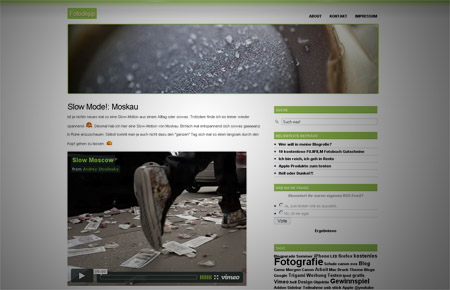neues design wordpress fotodepp