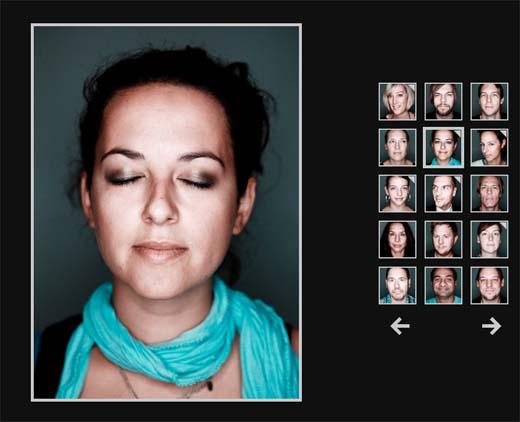 Portraits mit geschlossenen Augen - Benjamin Nadjib